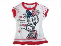*Disney*ディズニー*ミニーchan×USA国旗BigリボンTシャツ*95�a*新品*