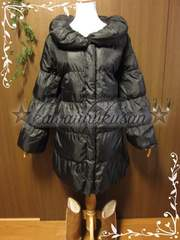 :B20 美品 [4L] Black中綿ダウンコート*大きいサイズ