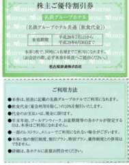 即送☆名鉄グループホテル 優待券 飲食 10%引