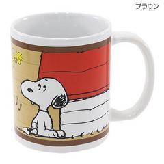 新品◆スヌーピー[マグカップ]陶器製【ブラウン )