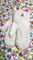 ☆手袋☆ウサギ☆ミトン☆アイボリー☆19cm〜20cm☆