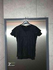 5351プールオム/レイヤードラメ糸ブラックカットソーTシャツ/2