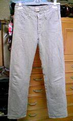 ジャーナルスタンダード 麻+綿 細身タイト・ストレートパンツ Sサイズ36 ベージュ 日本製