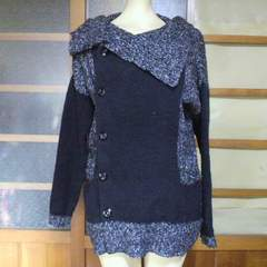 AZUL/アズールグレー×黒 ニット・セーター
