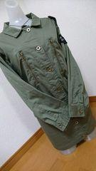 大きいサイズミリタリージャッケット袖ワッペン4Lカーキー