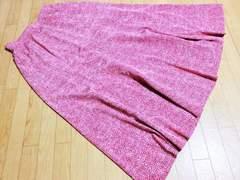 ボルボネーゼ/BORBONESE ウズラ柄膝丈フレアスカート