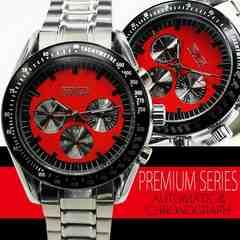 【全針稼動本格仕様】自動巻きクロノグラフ腕時計 HR2010
