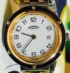 エルメスクリッパーボーイズ時計コンビ