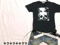 ●MIDAS●ツーピース★ガール&スカル*プリントTeeシャツブラック