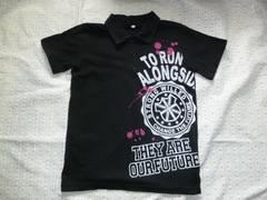 ブラック♪襟付きTシャツ♪ポロTシャツ♪130