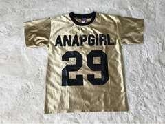 美品ANAP  GIRL GOLDTシャツ  140〜150センチ