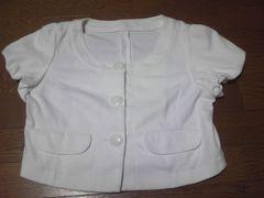 ジャケット/上着/半袖/白/Mサイズ/まとめ買い歓迎