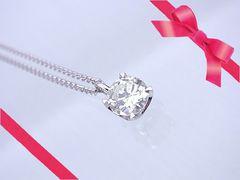 VS2 Kカラー 0.913ct 大粒ダイヤモンド ネックレス 新品 N-988★dot