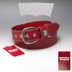 LEVI'S リーバイス 牛革 ベルト 40mm 6091 レッド 新品 本