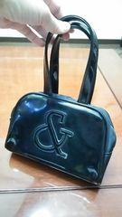 ピンキー/&byP&D☆&ロゴパッチワークエナメルミニボストンハンドバッグ