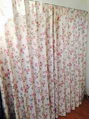 ヨーロピアン 欧米 薔薇 一級遮光カーテン 100×200 ベージュ