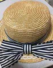 アンジェリックプリティAngelic Pretty青白ストライプ麦わら帽子