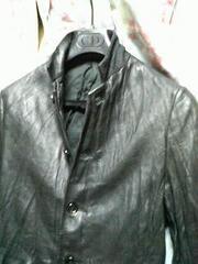 シェラックshellac44レザージャケットブルゾン黒