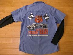アメリカ PHILLIPS66 ワークシャツ 大き目Sサイズ