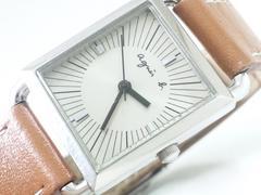 9099/アニエスb男女兼用でお勧め★純正のレザー革腕時計格安出品