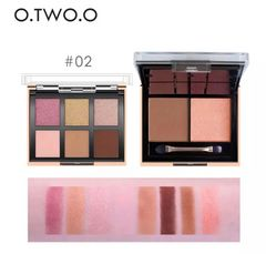 O.TWO.O 8色アイシャドウチークパレット #02