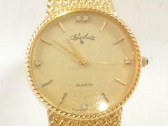 9412/フルゴールドモデル5ポイントダイヤ★メンズ腕時計迫力満点です