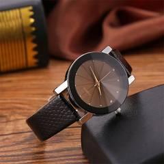腕時計 アナログ クォーツ おしゃれ メンズ レザー バンド ブラ