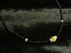 長さも選べる!!!金針水晶ゴールドルチル×ブラックオニキス数珠ネックレス