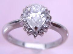 即買い Pt900 ダイヤモンド リング 13号 A273
