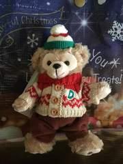 クリスマス ぬいぐるみバッジ ダッフィー セーター