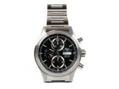 正規美品BALLボール時計クロノグラフ自動巻黒文字盤腕時計メ