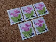 5-100【額面500円分】100円切手×5枚