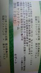 鷹の祭典 7/28 ソフトバンクホークスVS楽天 外野指定3塁ペア