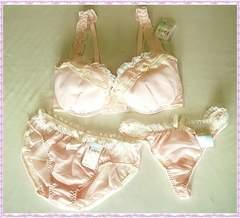☆スイートカラー♪ブラ&ショーツ+Tバックセット F75 (ピンク)