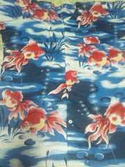 ☆新柄青紺×金魚大柄ダボシャツ4L