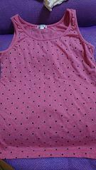 即決☆150�a濃ピンクの後リボン激カワタンクトップ