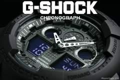 送料込 G-SHOCK CASIO カシオ 1/1000秒クロノデジアナBKBK新品