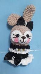 うさぎちゃん可愛い小物入れ編みぐるみ