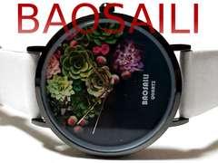 新品・未使用★BAOSAILI【ボタニカル】箱付 美しいメンズ腕時計