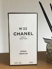 シャネル本物 N°22 スプレイパルファム 6ml 新品未開封