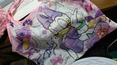 ミニーデイジーエコバックピンク花柄ディズニー