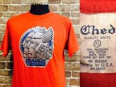 実寸M/USA製!1976年ビンテージ.ラメプリント付き.ユーズドTシャツ古着ヒッピー