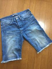 Beltless Denim Shorts Crash
