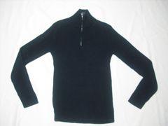 25 男 NAUTICA ノーティカ 黒 セーター M