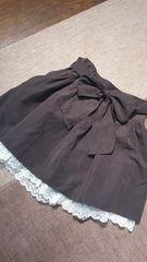 OLIVEdesOLIVE☆秋色☆裾レースリボンベルトふんわりガーリースカート