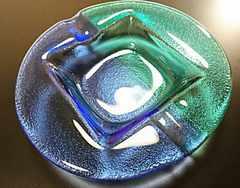 ササキクリスタル ガラス灰皿 未使用