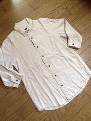 美品HARE 7分丈シャツ 日本製 グレー ハレ