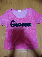 ベロア トップス Tシャツ ピンク チア アメリカン レゲエ