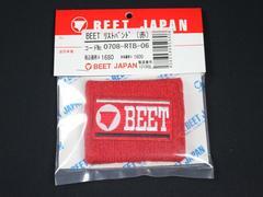 BEET製 リストバンド 赤 ビート