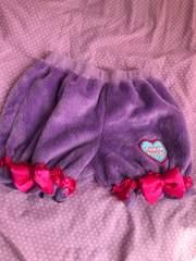 アースマジック 100cm ふわふわビッグりぼんかぼちゃパンツ 紫